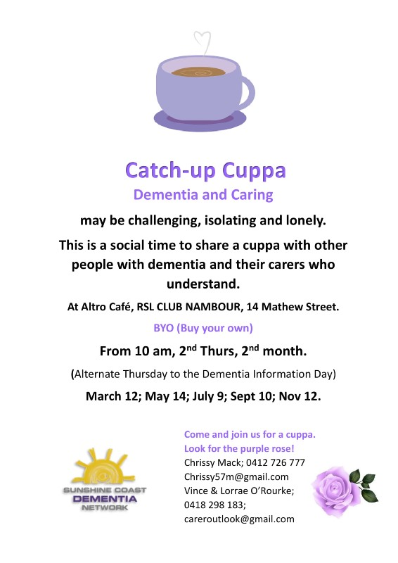 SCDN Catch-Up Cuppa @ Altro Cafe, Nambour RSL